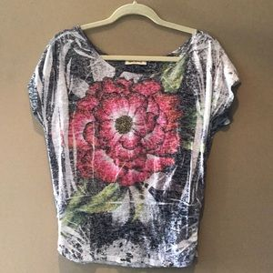 Arden B flower 🌸 top with accents stones